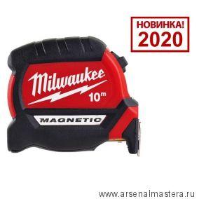 Рулетка магнитная GEN III 10 м ширина полотна 27 мм MAGNETIC TAPE PREMIUM MILWAUKEE 4932464601 Новинка 2020 года!