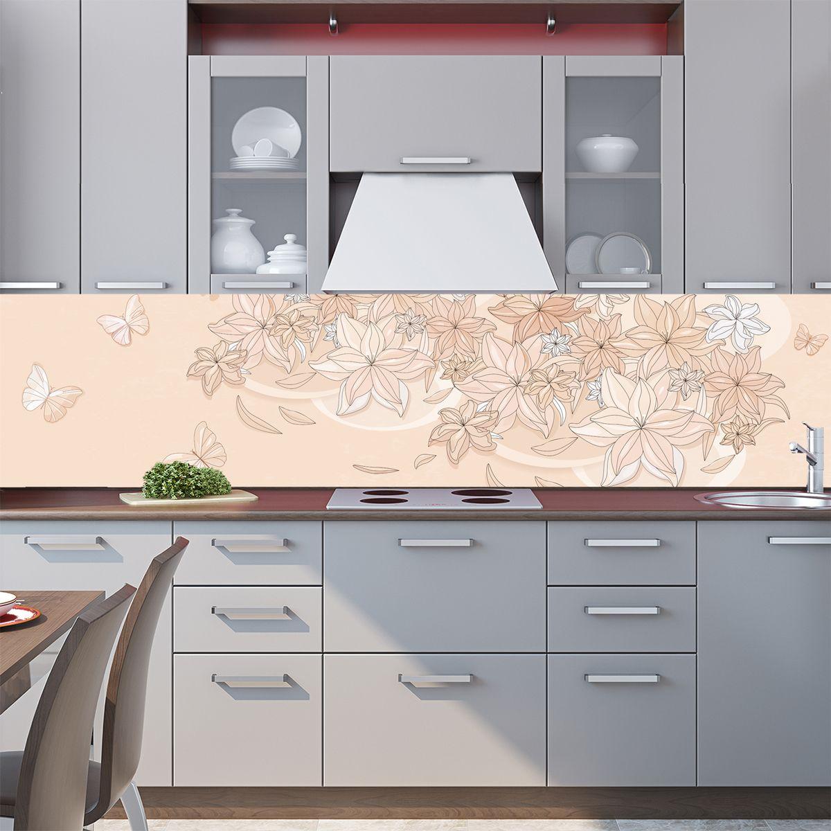 Фартук кухни - Floral-1 купить в магазине Интерьерные наклейки