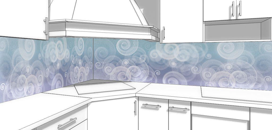 Виниловая наклейка на фартук кухни - Виражи