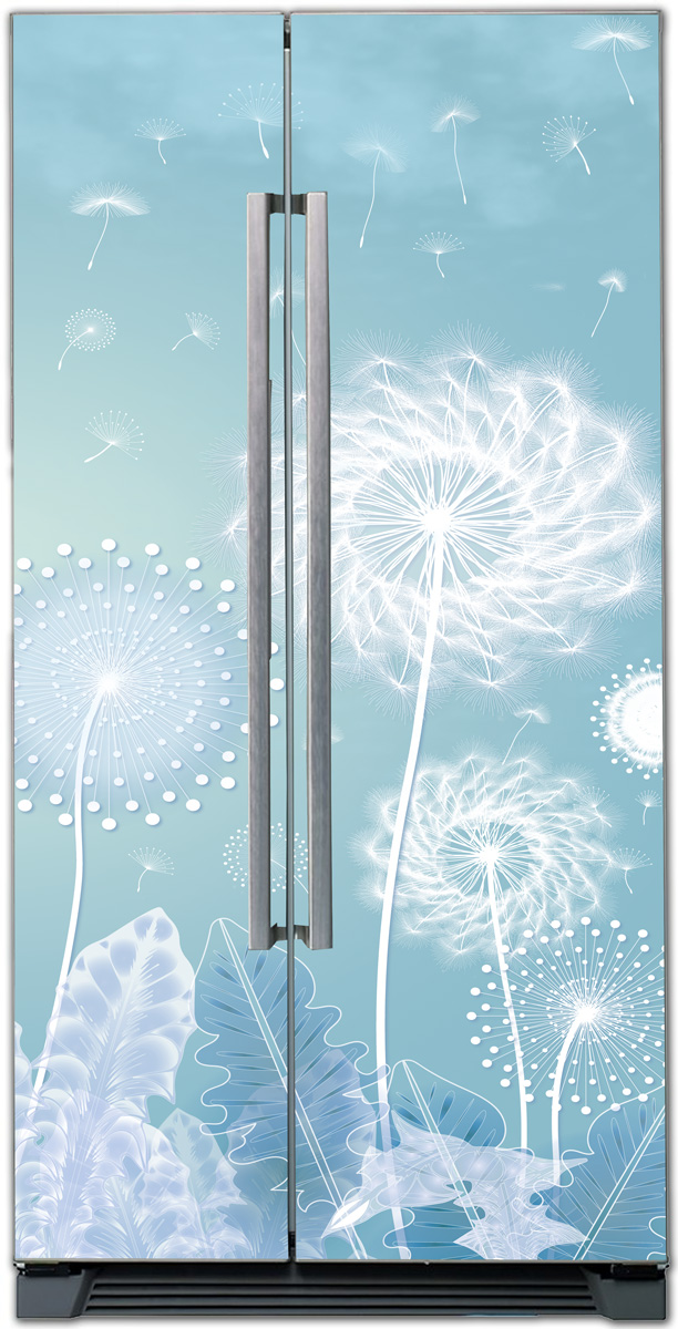 Dandelion| Self Adhesive Sticker Wall Fridge, Kitchen Decor X-Decor