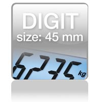 Piktogramm: Digit size 45 mm