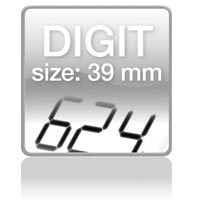 Piktogramm: Digit size 39 mm
