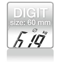 Piktogramm: Digit size 60 mm