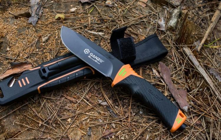 Нож выживания Ganzo G8012 Оранжевый