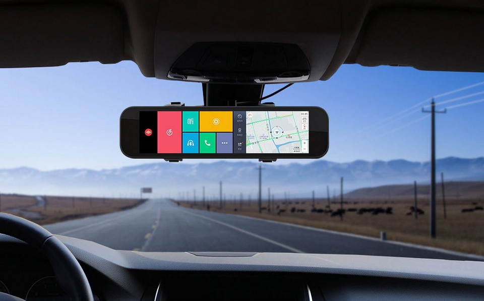 xiaomi-70-steps-smart-rearview-mirror-black IN CAR