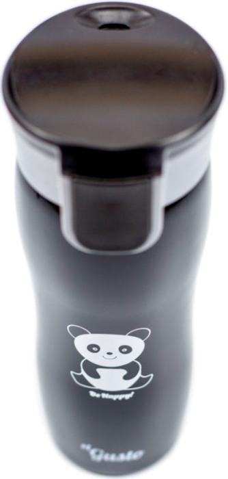 Термостакан для напитков el Gusto коллекция Corsa 470 мл с рисунком - крышка с кнопкой