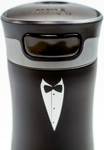 Термостакан для напитков el Gusto коллекция Berry 470 мл Смокинг - крышка с кнопкой