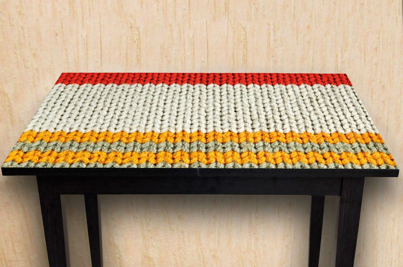 Stickers a Table - Knitted 3 | Buy Table Decals in x-decor.com