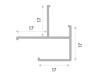 Угловой универсальный профиль для стеновых панелей