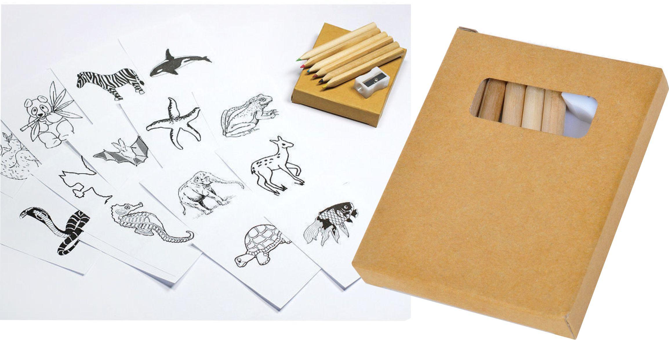 набор карандашей с логотипом