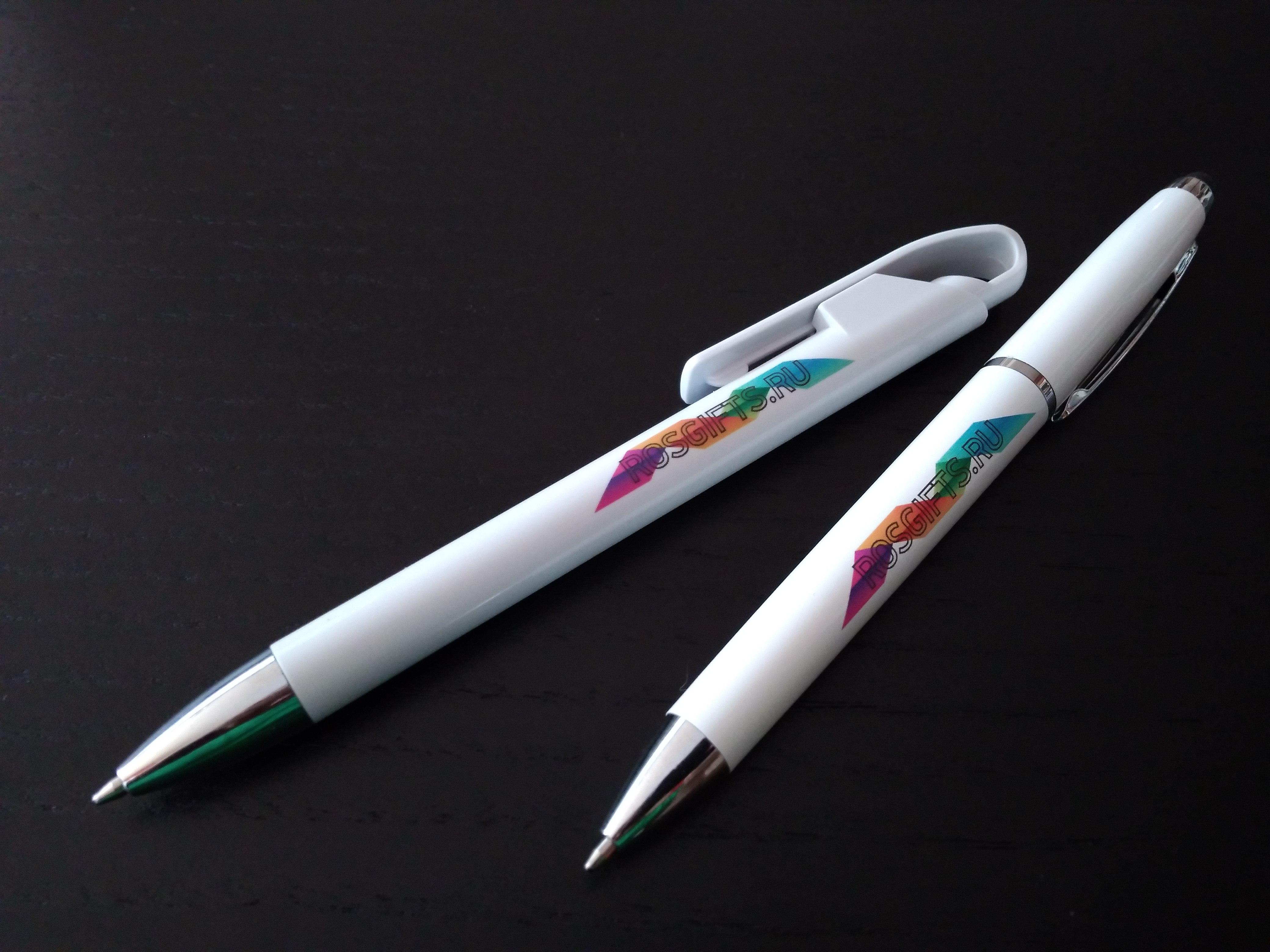 ручки с многоцветной печатью