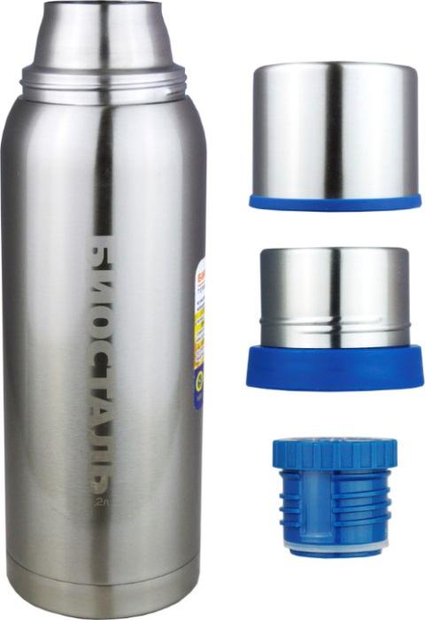Классический термос Биосталь NBA для напитков - крышка-чашка, чашка, пробка, термос