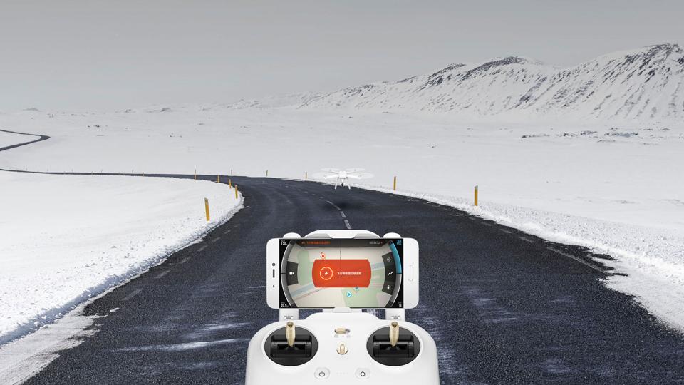 Mi drone 4К  простое управление со смартфона
