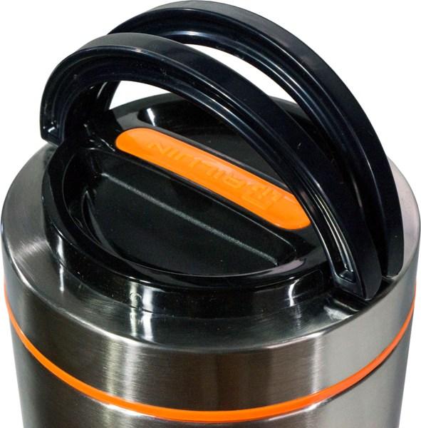 Термос Steel Food S 1,8 литра с тремя судочками для еды - крышка с ручкой