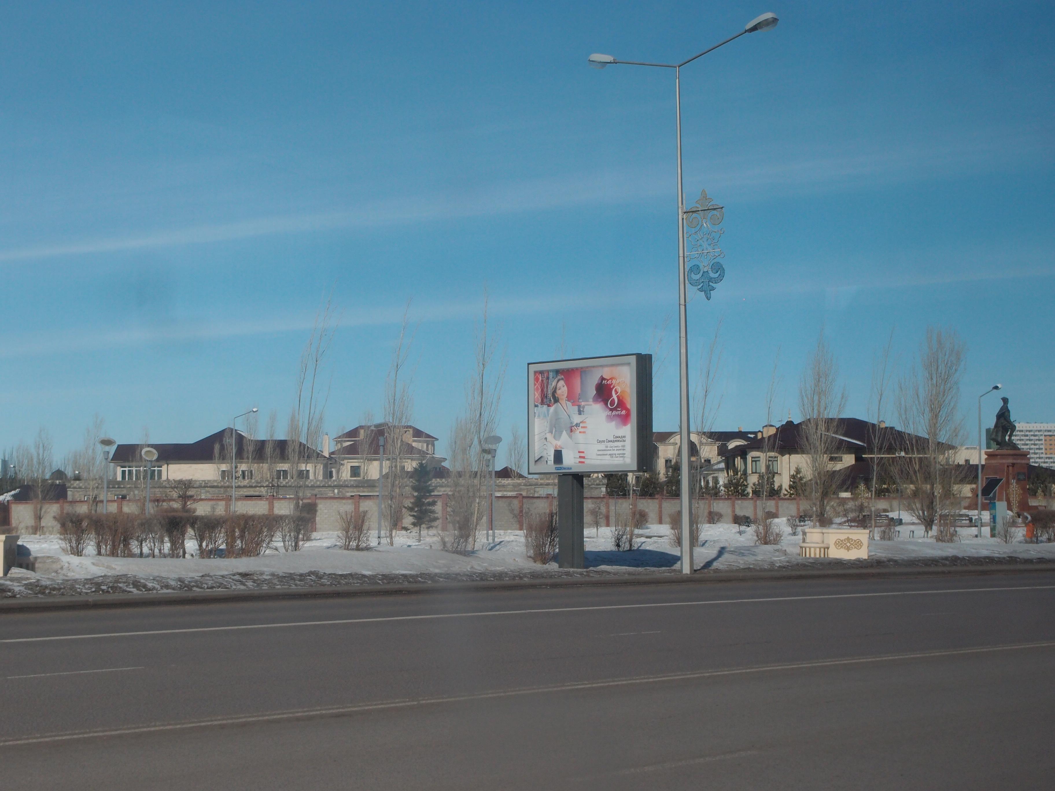 уличные стальные опоры освещения в Астане