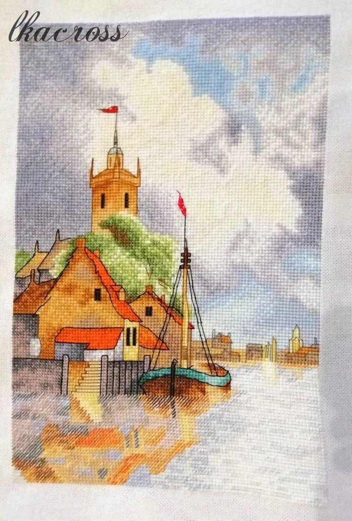 Схема для вышивания крестиком Голландская гавань