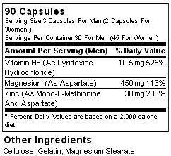 Состав ZMA от Ultimate Nutrition
