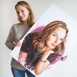 нарисовать портрет по фотографии на заказ