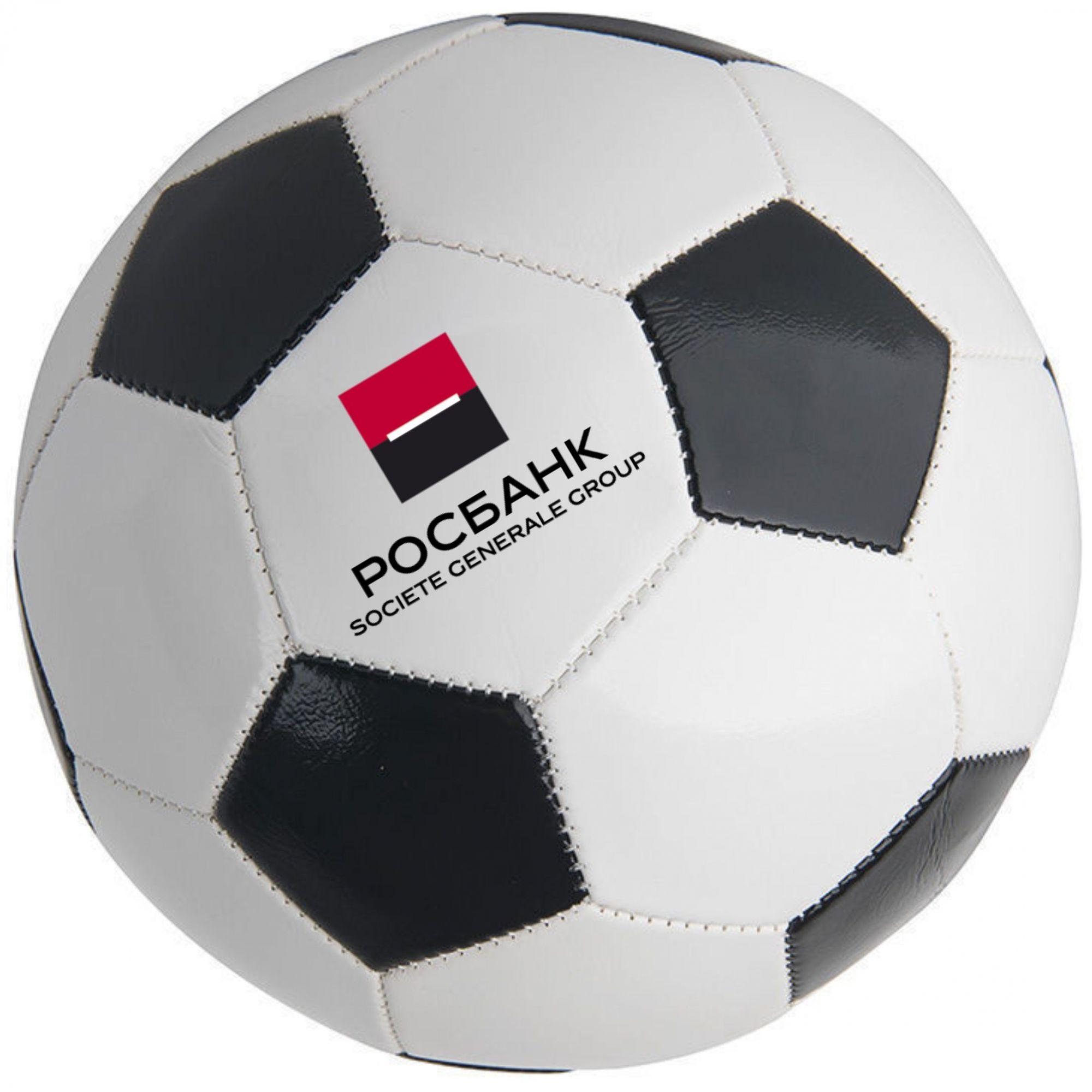 футбольный мяч с логотипом компании