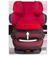 Снимаемый вкладыш сидения - устойчивость и безопасность