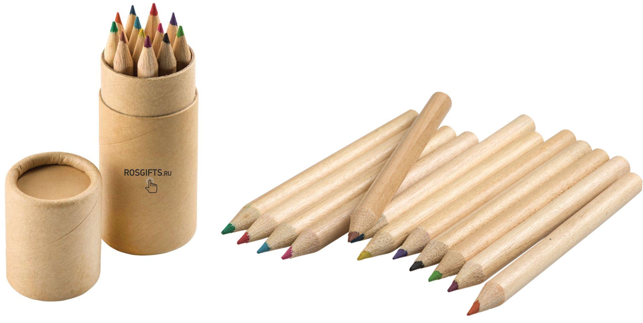 набор карандашей в тубусе