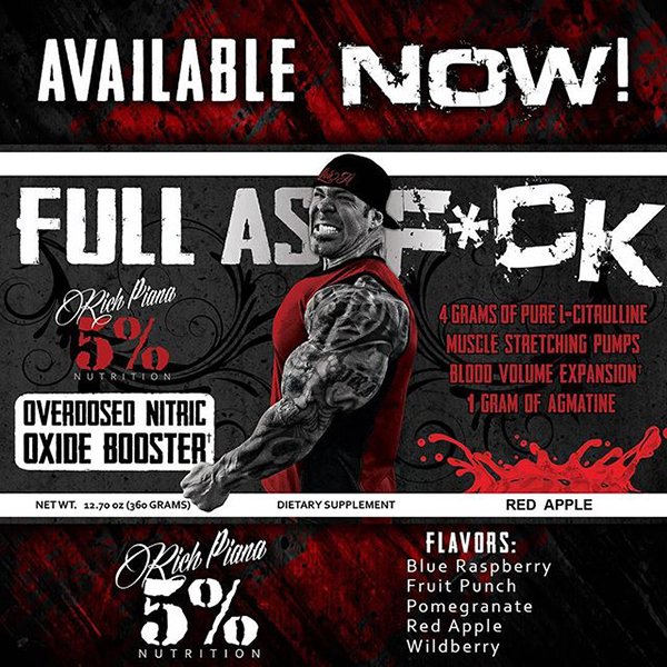Full as F*ck Rich Piana 5% Nutrition