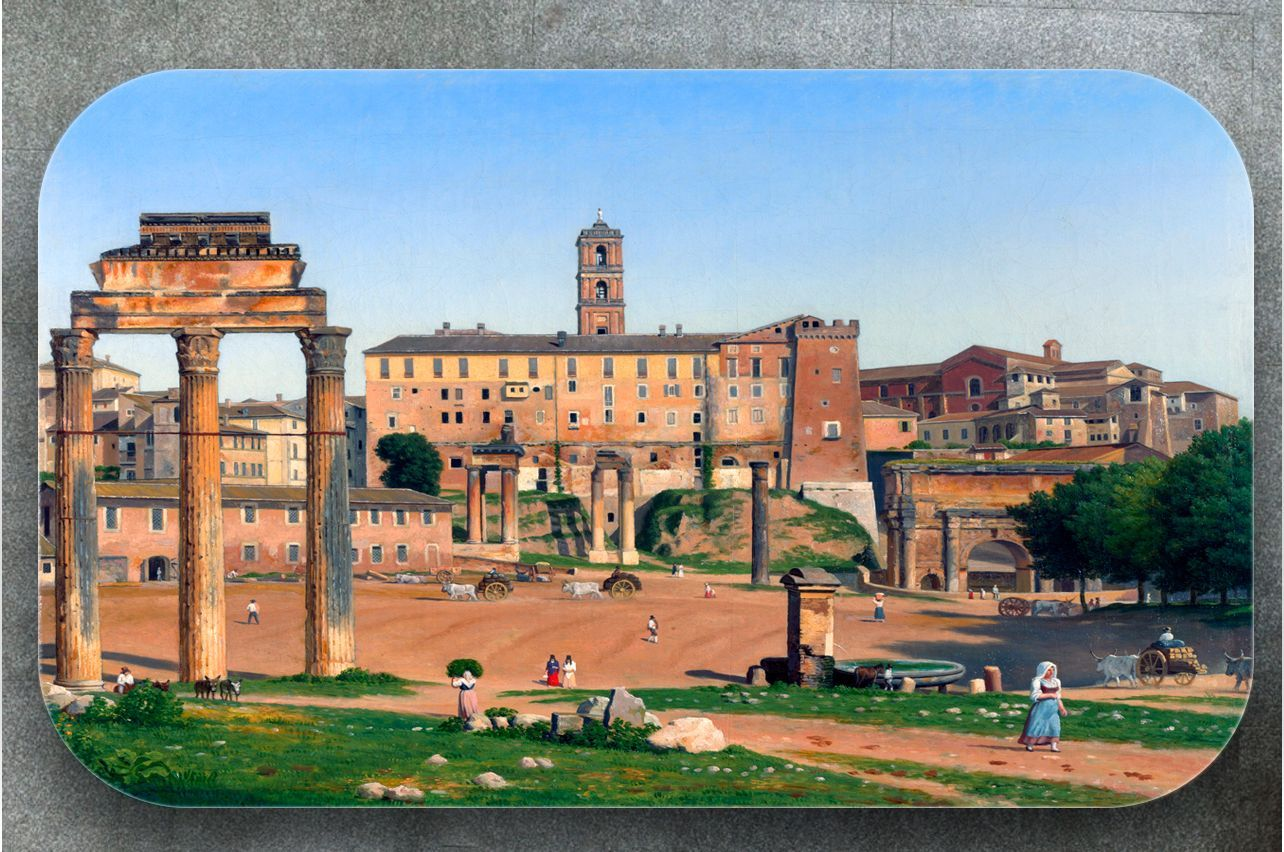 Stickers a Table - View of the Forum in Rome |Buy Table Decals in x-decor.comи