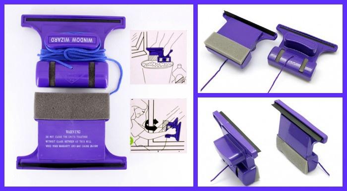Картинки по запросу Магнитная щетка Window Wizard для мытья стеклопакетов