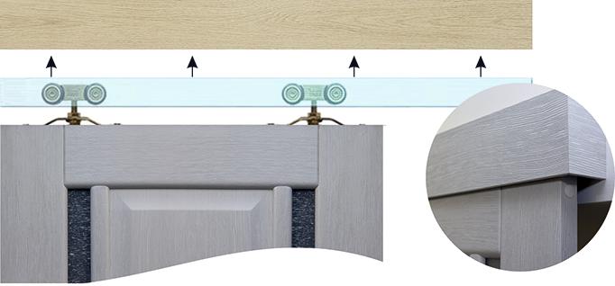 Схема раздвижного роликового механизма