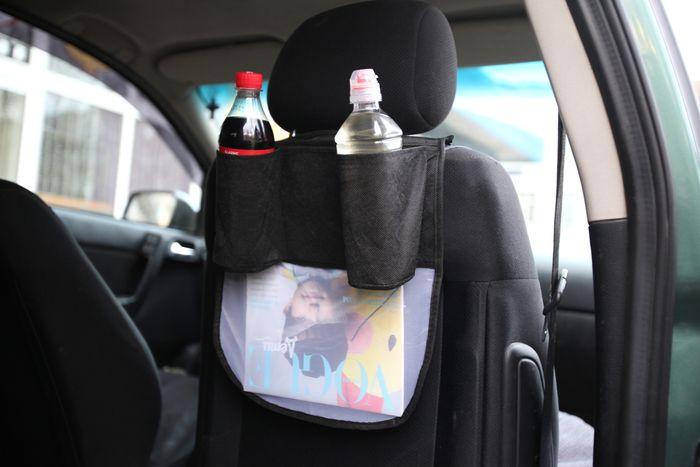 накидка с карманами на спинку сиденья автомобиля