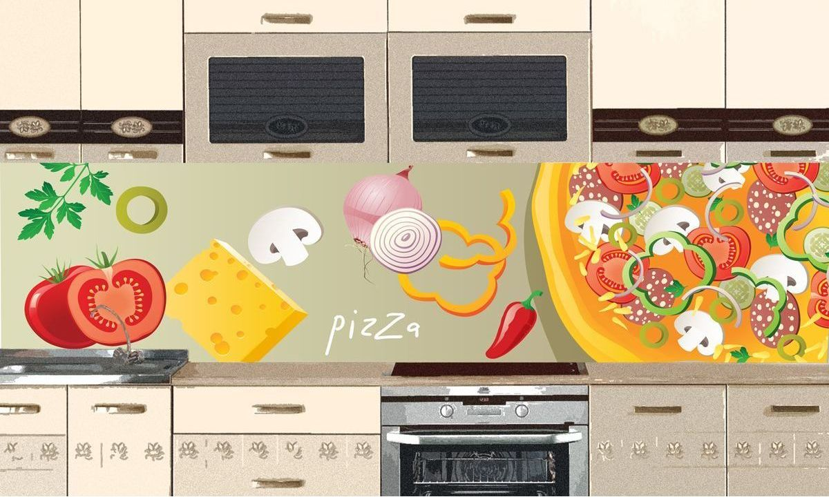 Kitchen Backsplash - Pizza