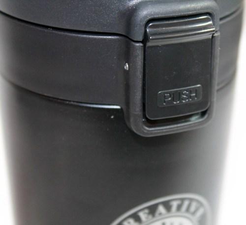 Термостакан Creative Cafe Style с поилкой 380 мл - крышка с кнопкой