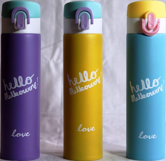 Термос питьевой Hello 400 мл с поилкой - ассортимент цветов
