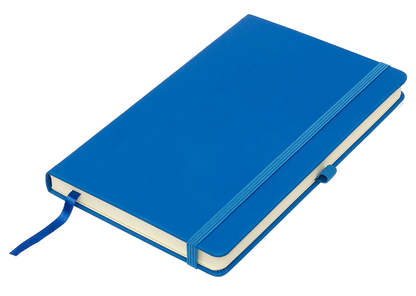 синие бизнес-блокноты Silky