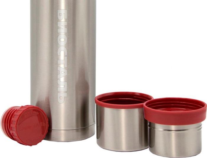 Классический термос Биосталь NBA для напитков - пробка, чашка и крышка