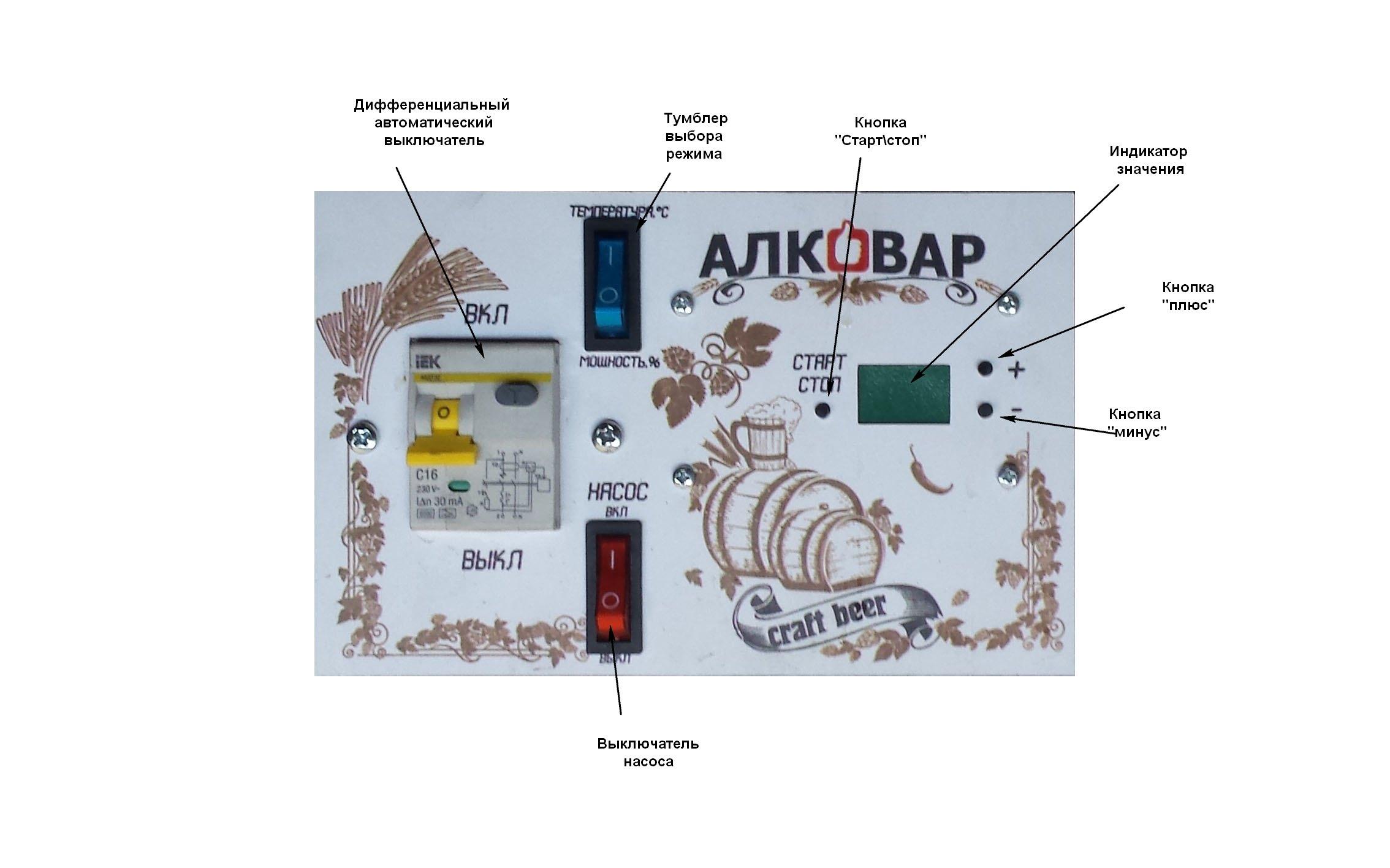 Блок управления пивоварней АЛКОВАР