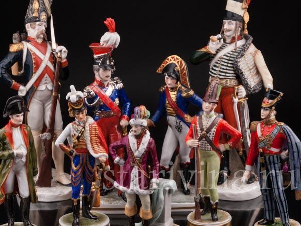 Фарфоровые статуэтки солдат фото