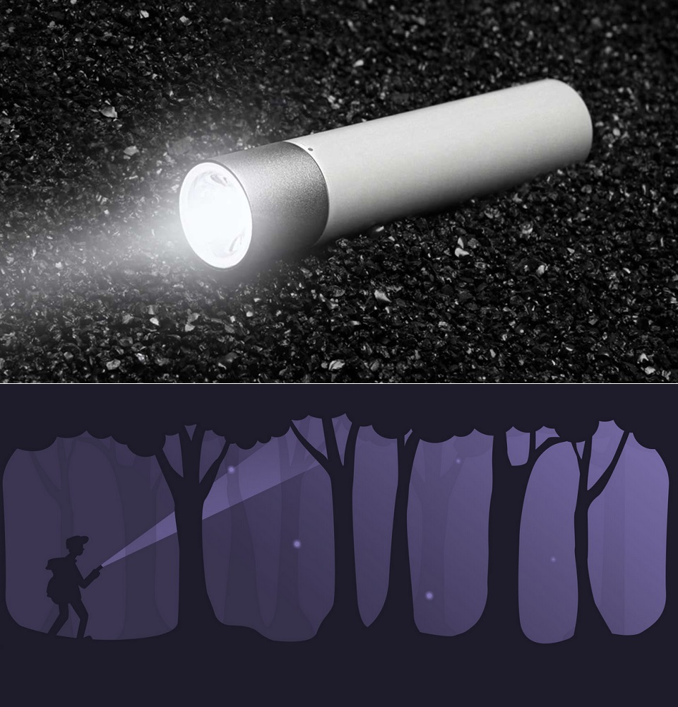 Фонарик Mi Portable Flashlight 3350 мАч режим SOS