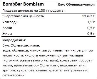 Состав джема Бомбар