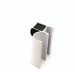 Профиль алюминиевый белый глянец
