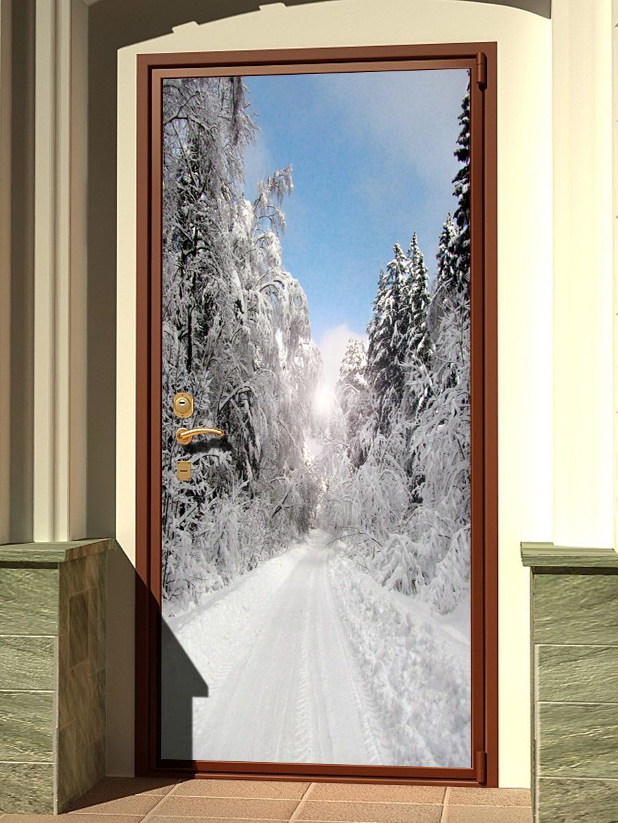 Door sticker - Winter Park by X-Decor