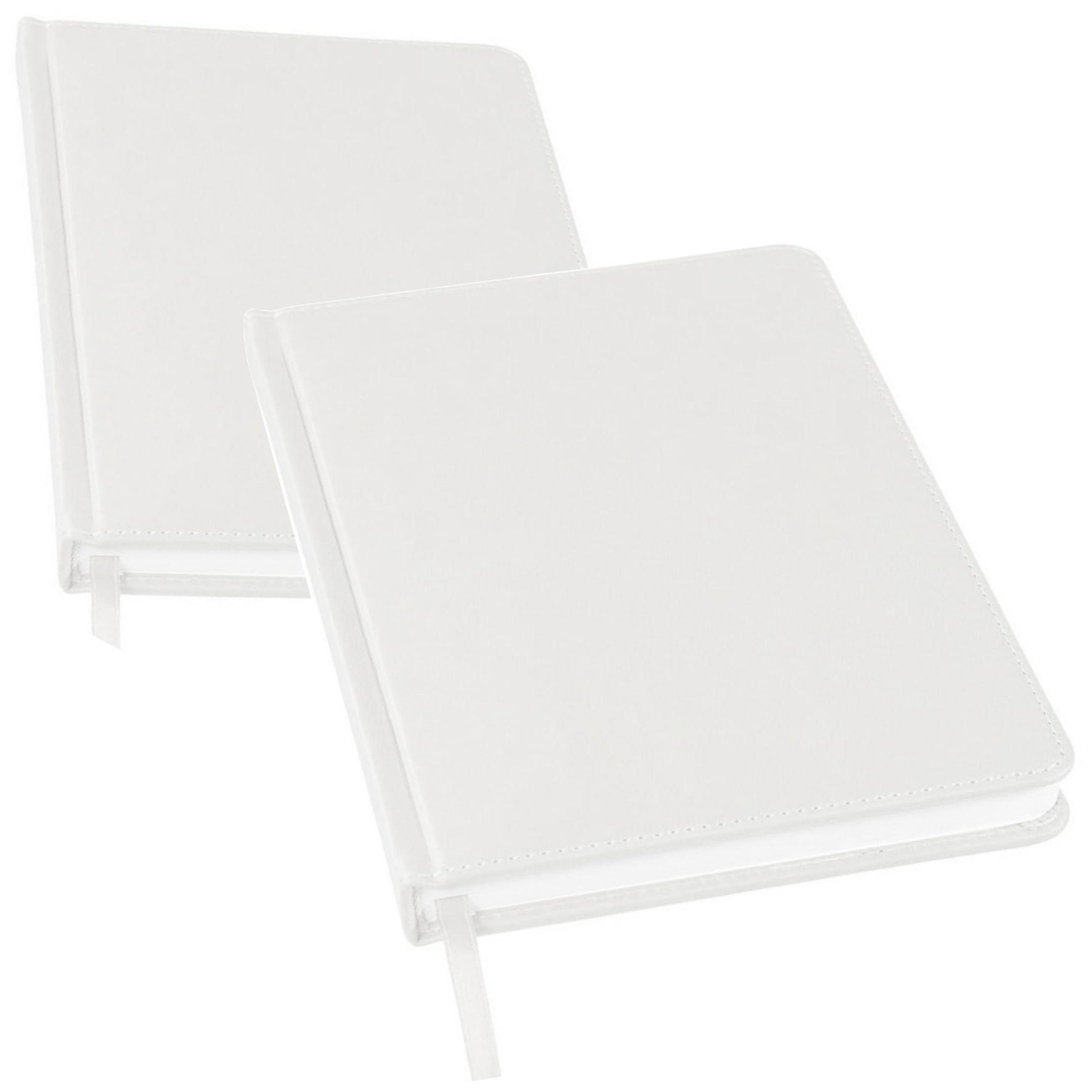 белые ежедневники с логотипом