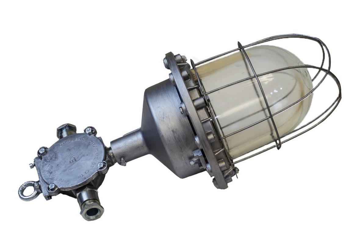 Светильник взрывозащищенный НСП 02-200-001 (ВЗГ-200) Е27 IP65 Источник света: Лампа накаливания, энергосберегающая, светодиодная LED. Для зоны взрывозащиты по пыли (Директивы ATEX ЕС): класс 21, 22 Материал корпуса: Алюминий.