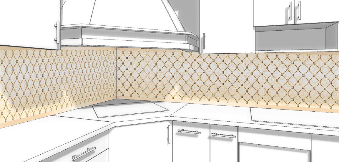 Виниловая наклейка для фартука на кухню - Роскошь 2
