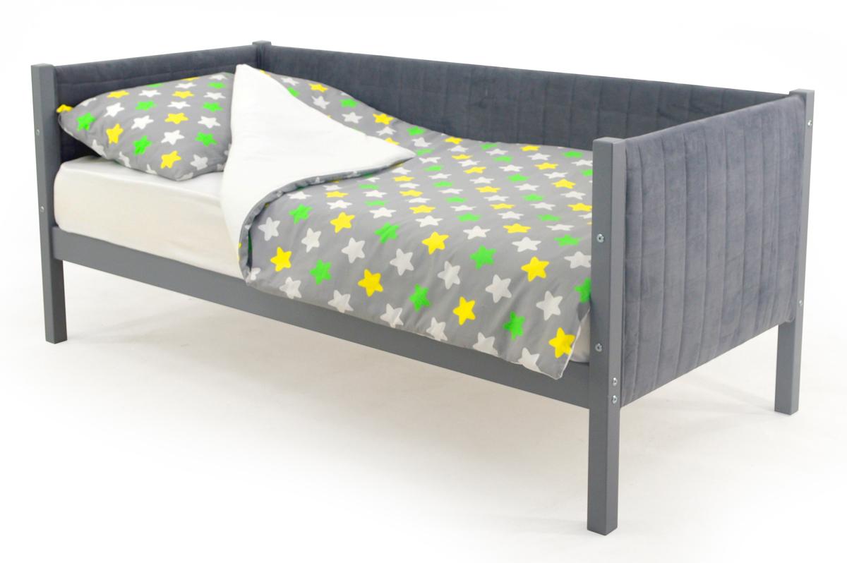 Кровать-тахта мягкая графит