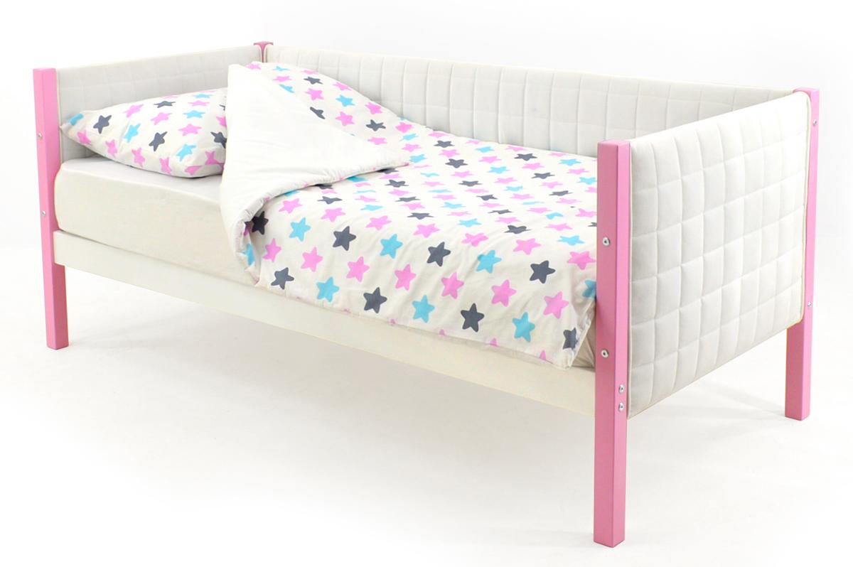 Кровать-тахта мягкая лаванда-белый