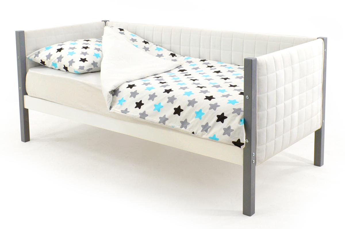Кровать-тахта мягкая графит-белый