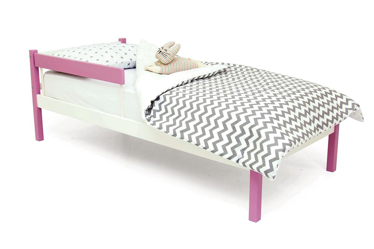 кровать детская лаванда-белый