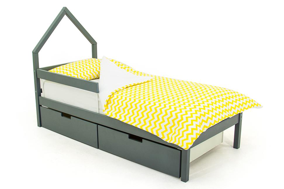 детская кровать графит