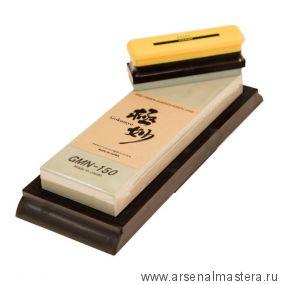 Заточной абразив 15000 Suehiro Gokumyo 205 х 73 х 20 мм на подставке с камнем для восстановления Suehiro М00015623